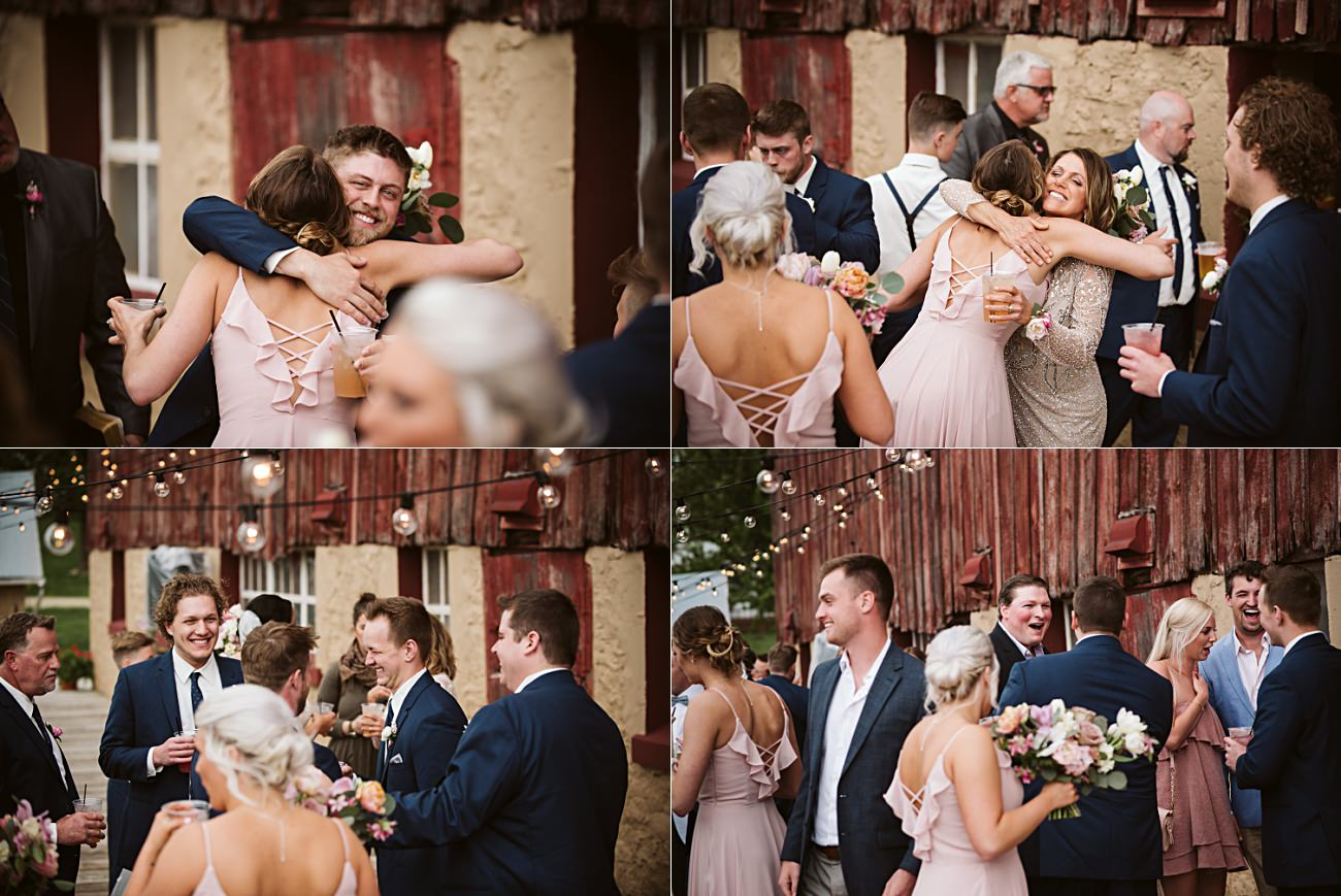 Vineyard Wedding, Barn Wedding In Wisconsin, Over the Vines Wedding, Bride and Groom in field, Natural Intuition Photography, Madison Wisconsin Wedding Photographer