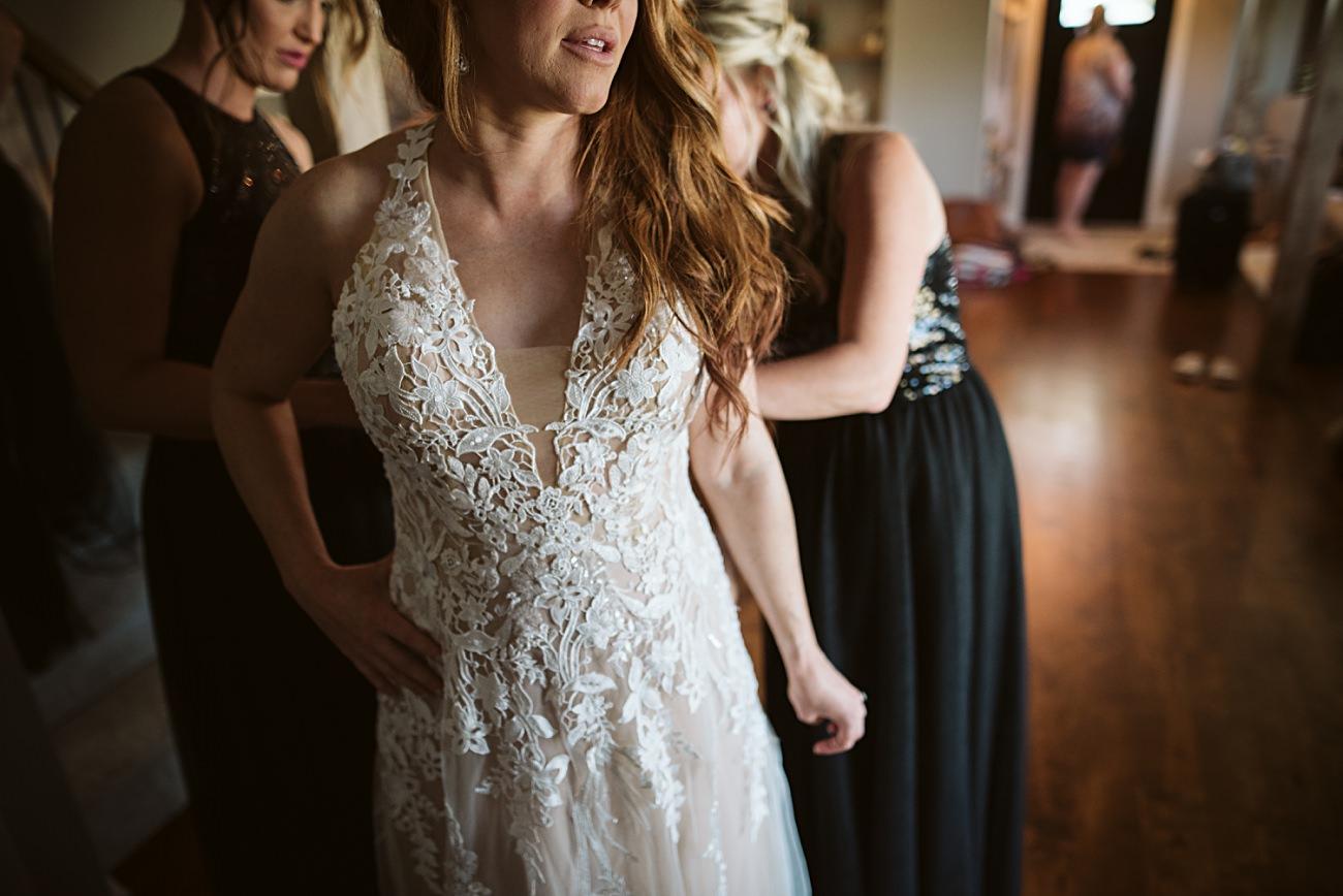 Bride getting ready, Madison Wisconsin Wedding