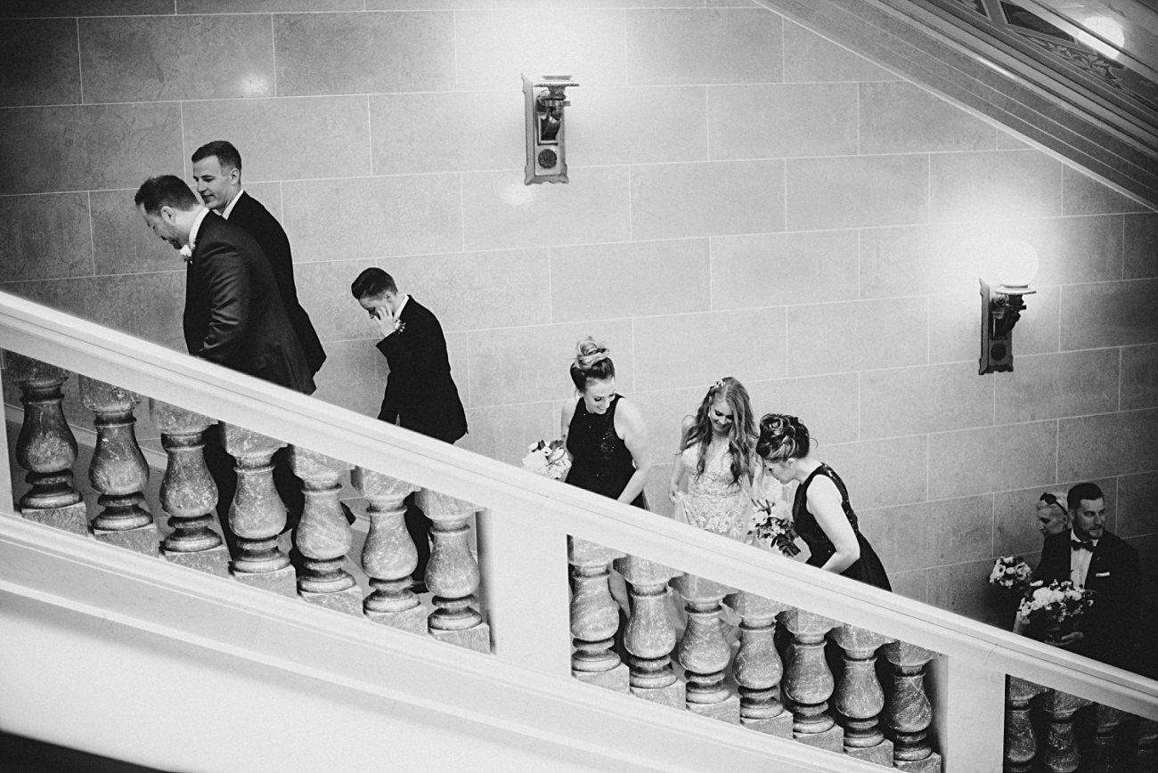 Madison Capital Building wedding party photos, Madison Wisconsin Wedding