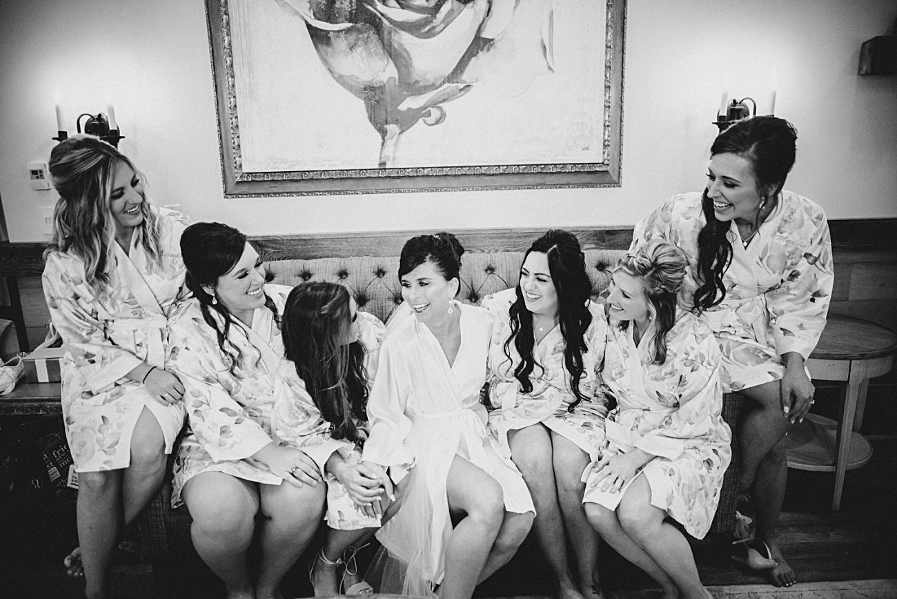 Bridal Party Robe Photos, Modern Pink Wedding in Wisconsin - Golf Course Wedding - Madison WI Wedding Photographer, Natural Intuition Photography