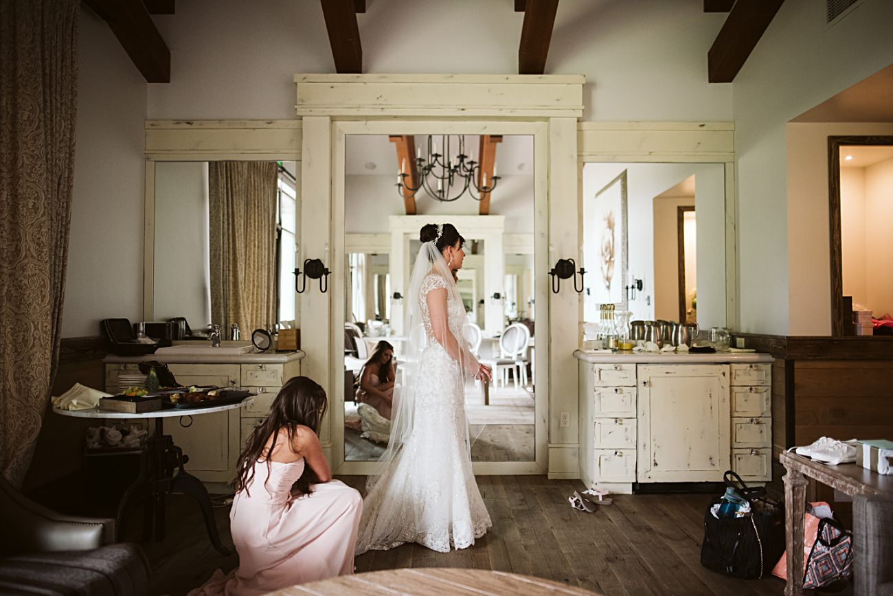 Bride Getting Ready, Modern Pink Wedding in Wisconsin - Golf Course Wedding - Madison WI Wedding Photographer, Natural Intuition Photography