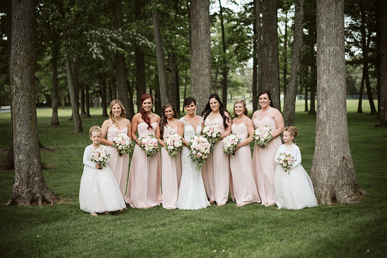 Pink Bridesmaid Dresses, Modern Pink Wedding in Wisconsin - Golf Course Wedding - Madison WI Wedding Photographer, Natural Intuition Photography
