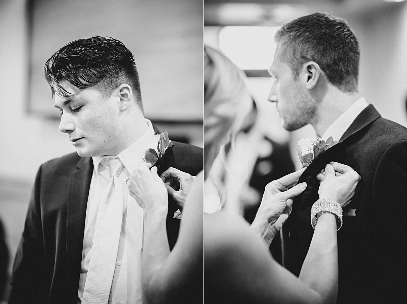 Groom Getting Ready, Modern Pink Wedding in Wisconsin - Golf Course Wedding - Madison WI Wedding Photographer, Natural Intuition Photography
