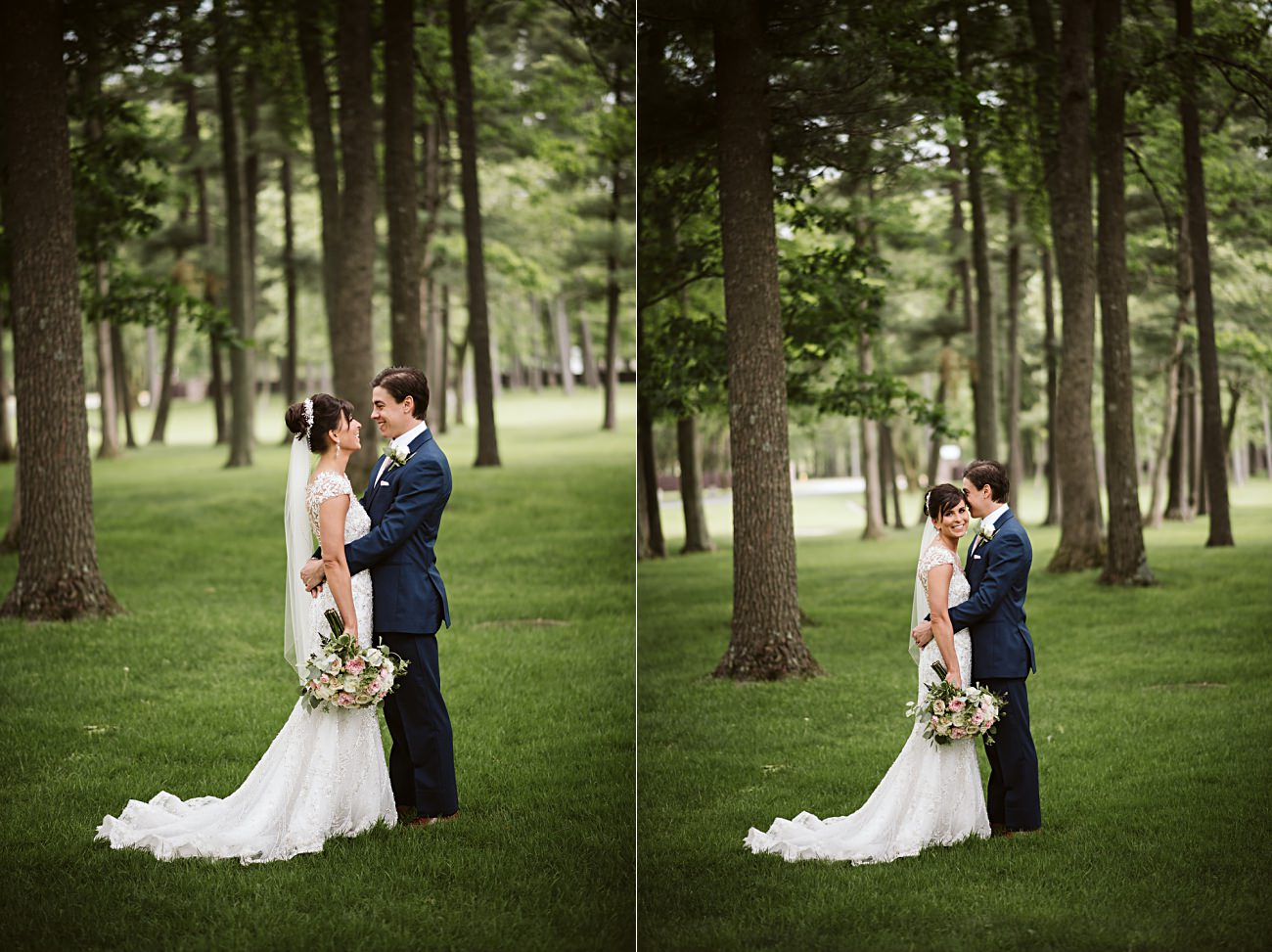 Pink and Navy Wedding Party, Modern Pink Wedding in Wisconsin - Golf Course Wedding - Madison WI Wedding Photographer, Natural Intuition Photography