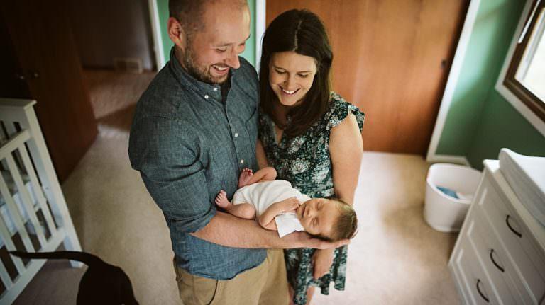 Milwaukee in home newborn photography, Milwaukee Newborn Photographer, 2 week old session