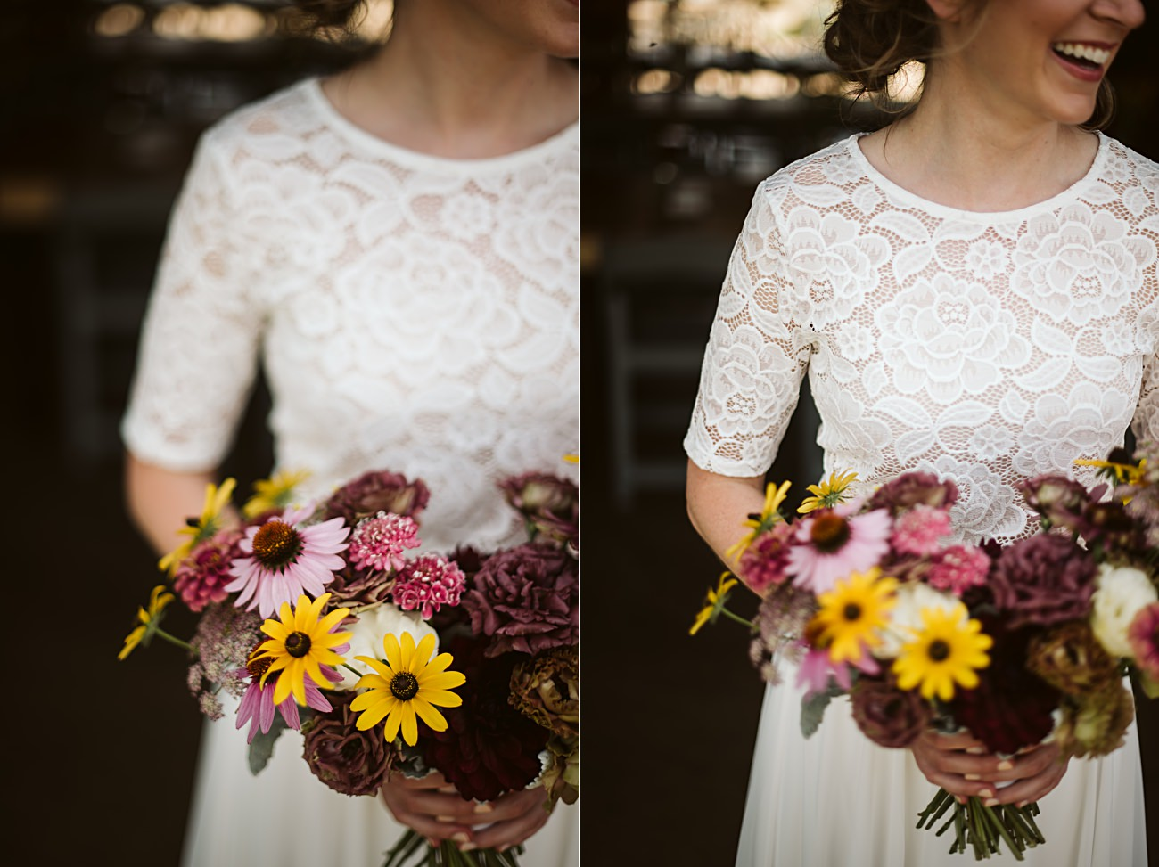 Wisconsin Barn Wedding, Madison Wisconsin Wedding Photographer, Wedding Party Photos, Lace 2 piece wedding gown