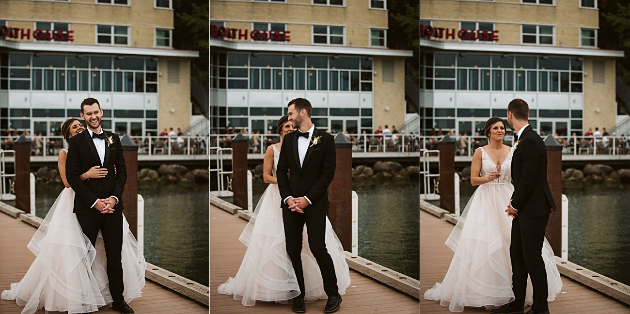 East Side Club Wedding in Madison Wisconsin, Lakeside Wedding Madison Wisconsin, Fall Wedding on a Lake, Natural Intuition Photography, First look images at Edgewater