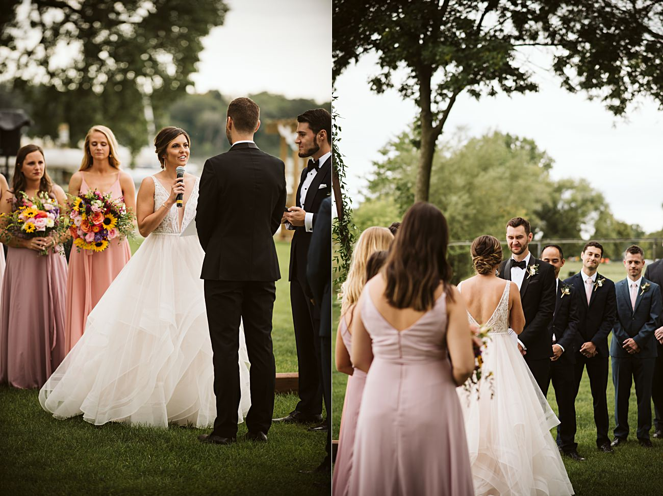East Side Club Wedding in Madison Wisconsin, Lakeside Wedding Madison Wisconsin, Fall Wedding on a Lake, Natural Intuition Photography