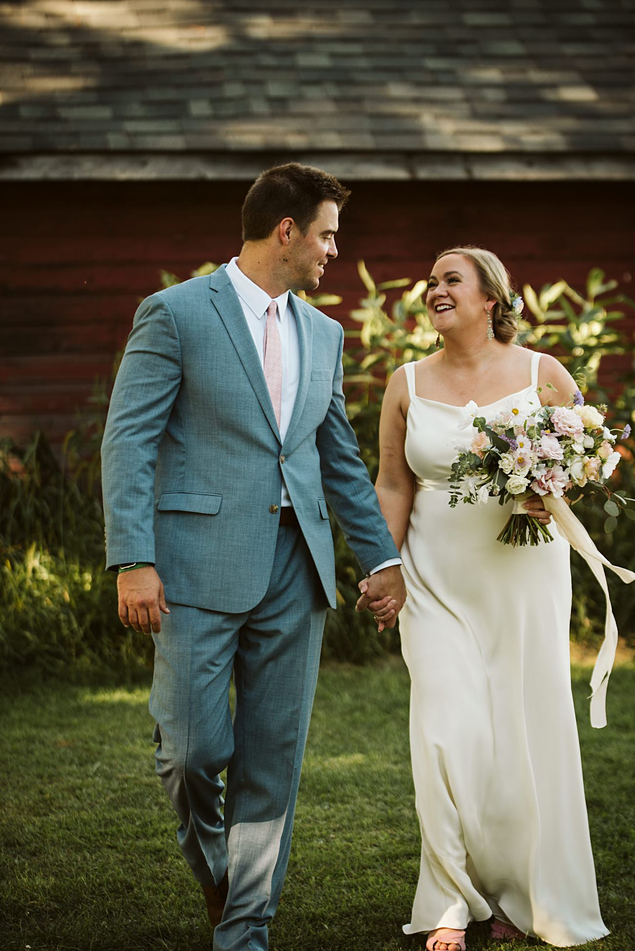 Octagon Barn Wedding near Spring Green Wisconsin, Barn Wedding Inspiration, Bride and Groom Photos