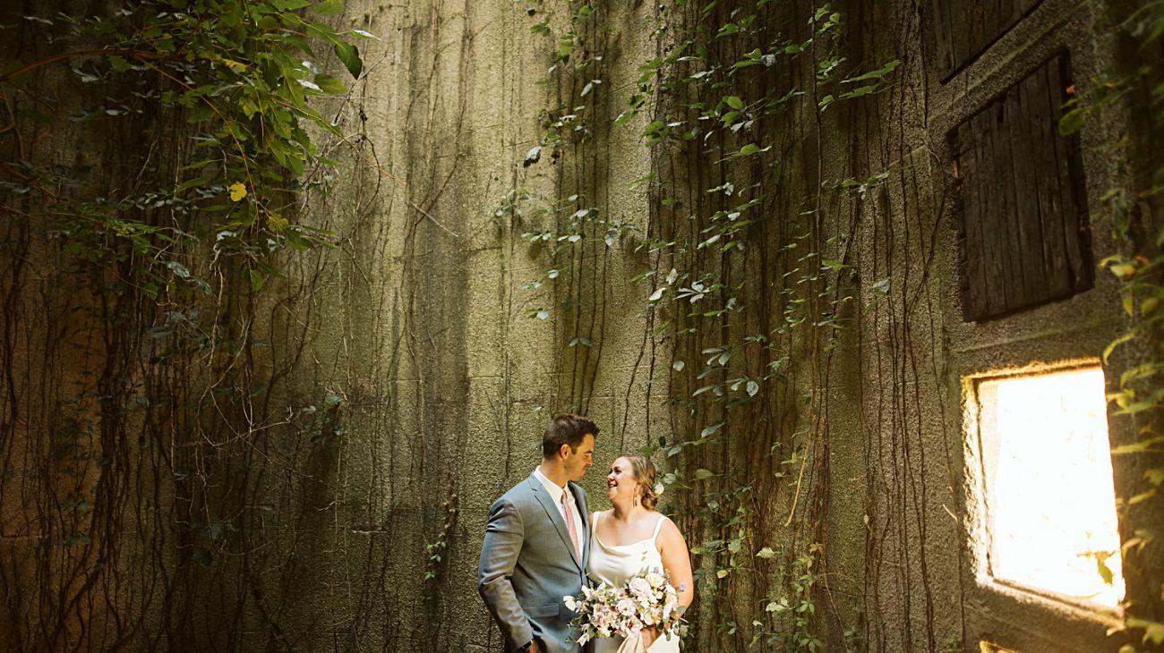 Octagon Barn Wedding near Spring Green Wisconsin, Barn Wedding Inspiration, Bride and Groom Photos