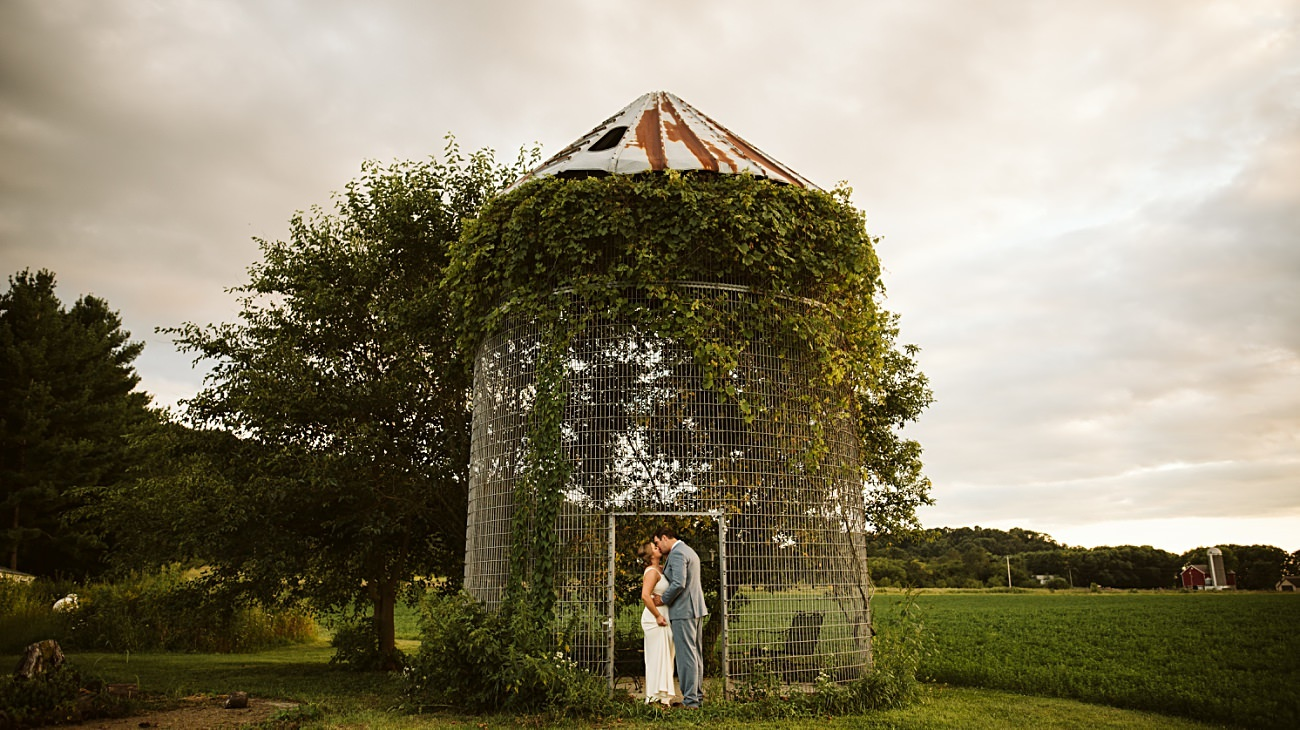 Octagon Barn Wedding near Spring Green Wisconsin, Barn Wedding Inspiration, Madison Wisconsin Photographer, Natural Intuition Photography, Sunset Photos